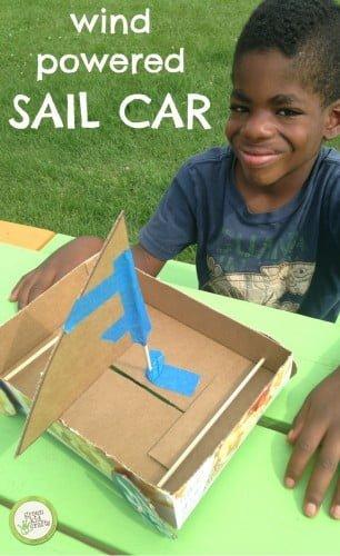 Wind Powered Sail car