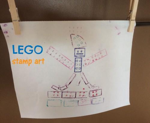 lego stamp art
