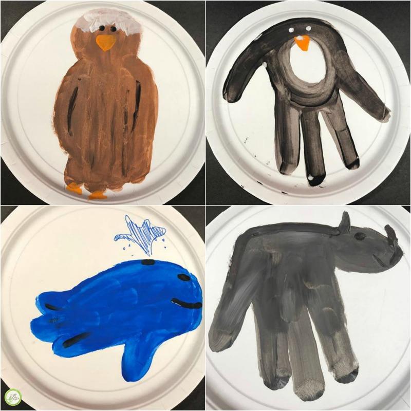 animal handprint craft