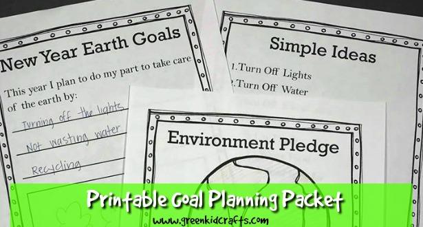 Goal planning printable for kids