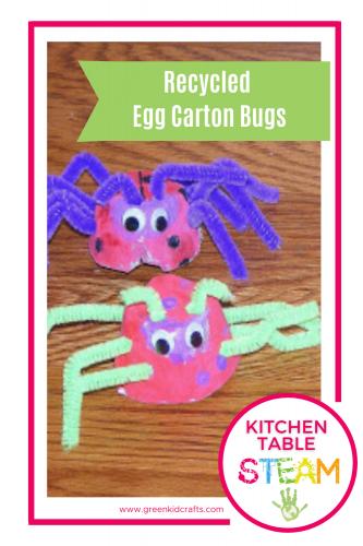 egg carton bugs crafts